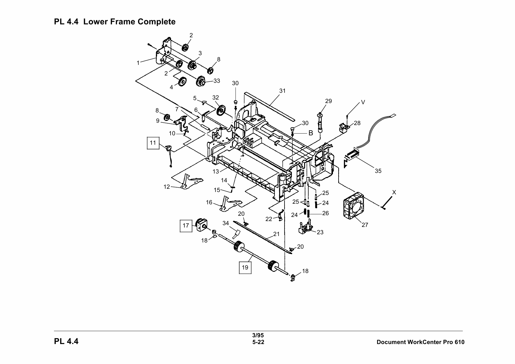 Xerox WorkCentre Pro-610 Parts List Manual-2